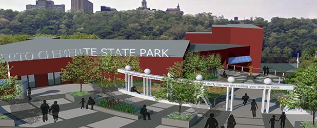Roberto Clemente State Park Main Entrance Plaza