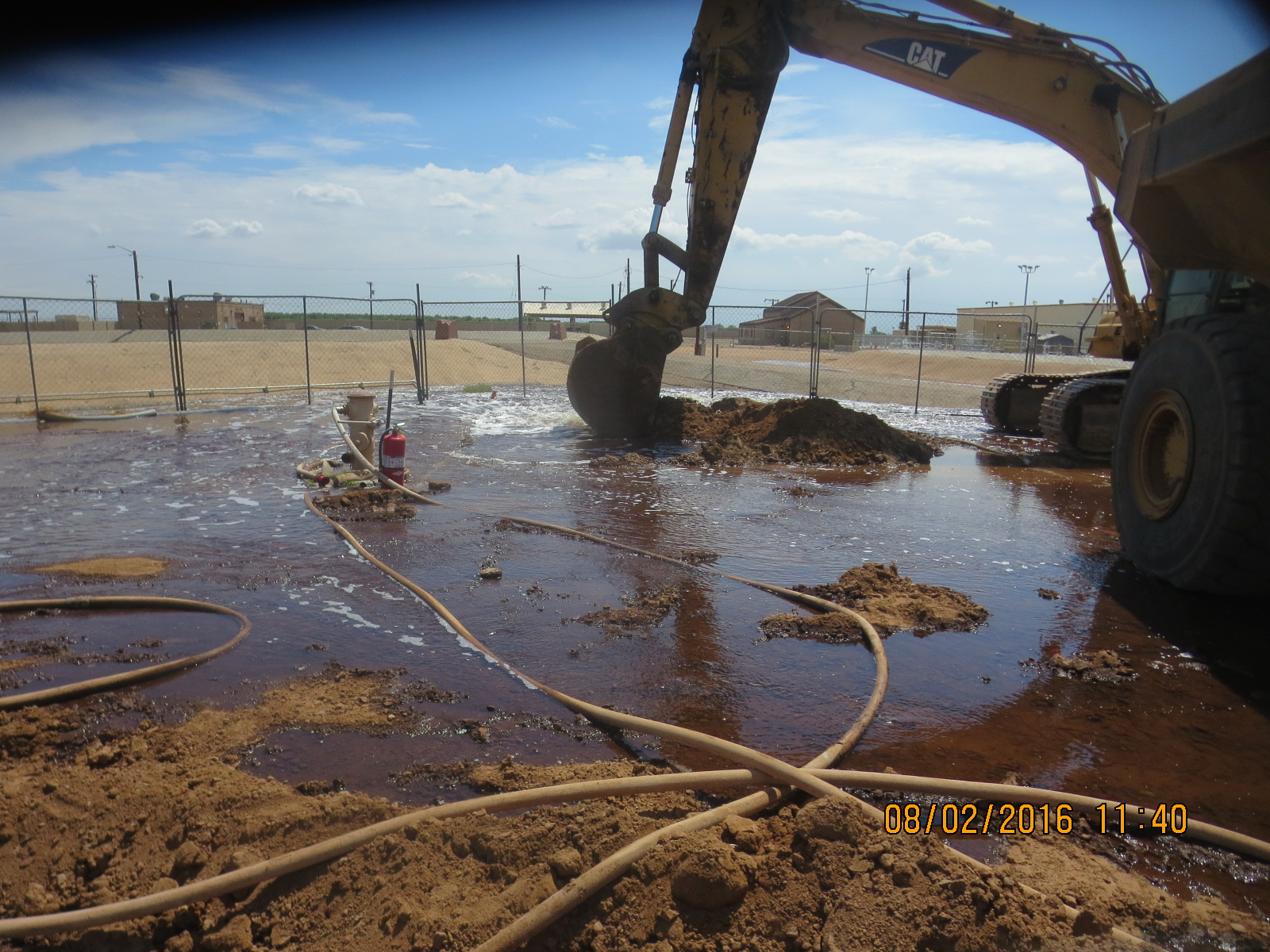 Air Force Base Jet Fuel Pipeline Spill