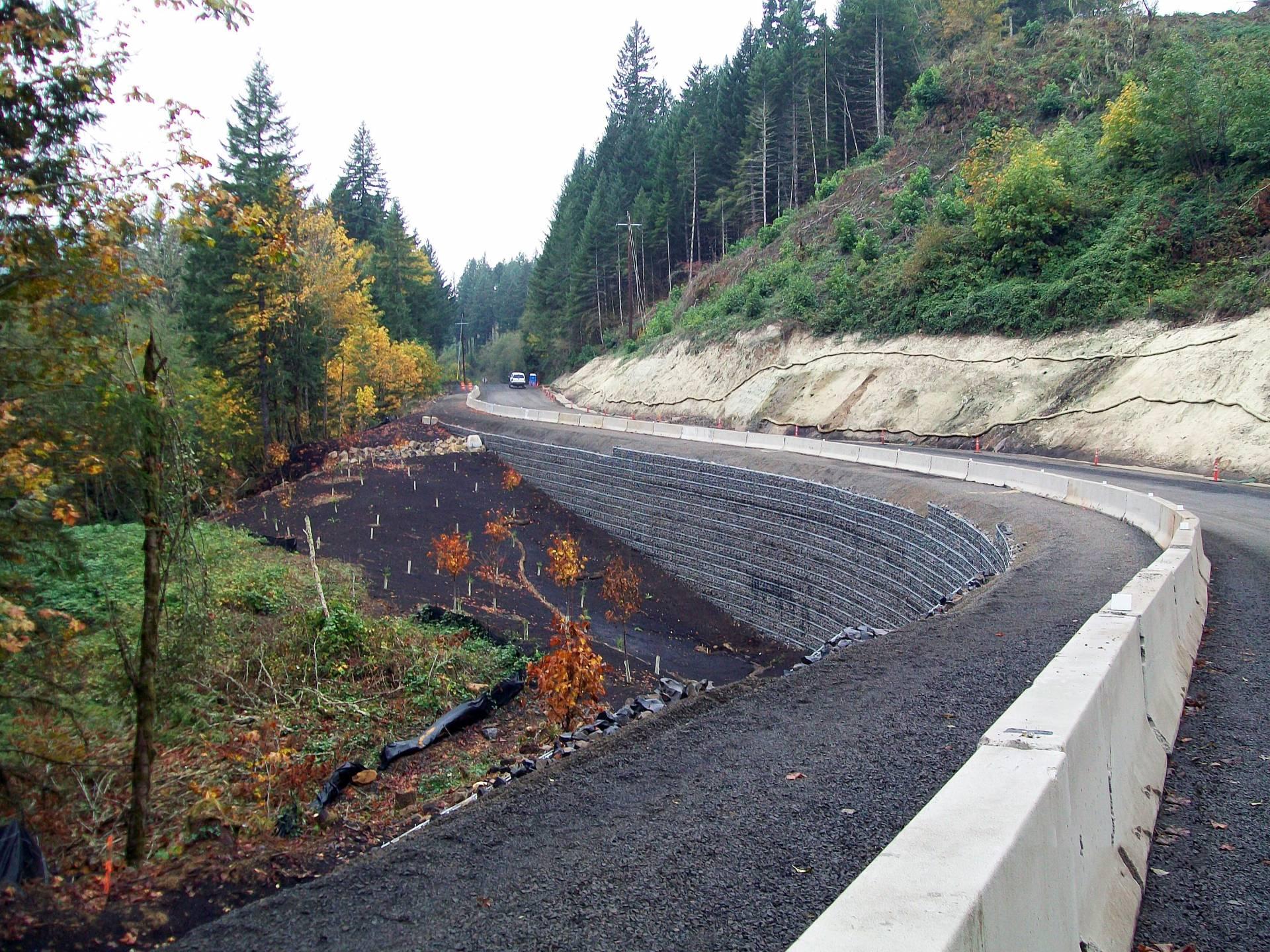 """North Fork Road """"Bear Trap"""" Landslide"""