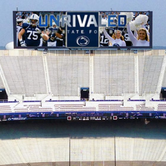 Pennsylvania State University Beaver Stadium Video Scoreboards